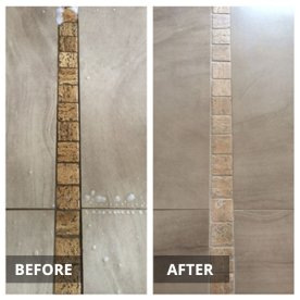 before and after tile and grout cleaning